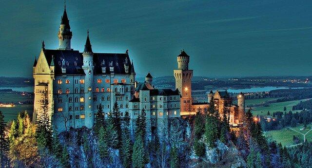Красивый замок Германии