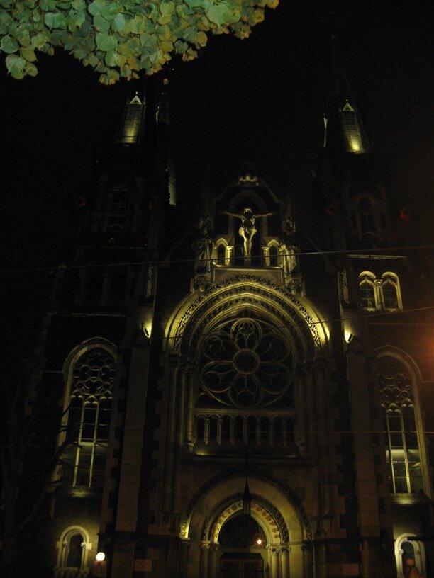 Собор Эльжбеты ночью