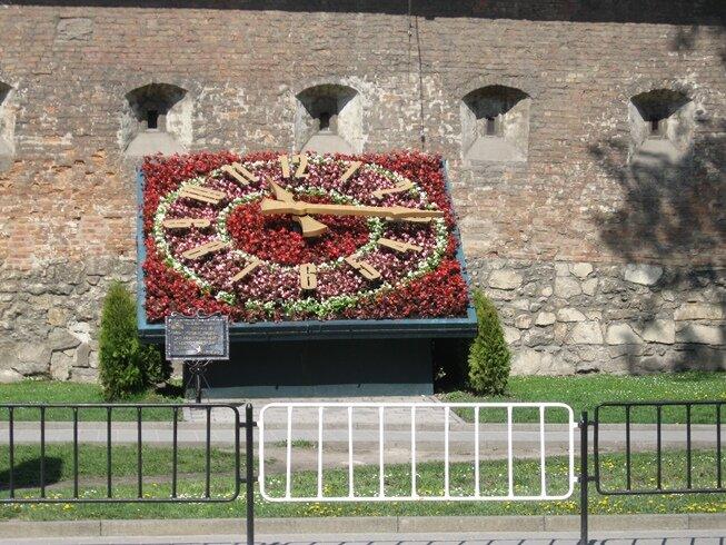 Часы из цветов Львов