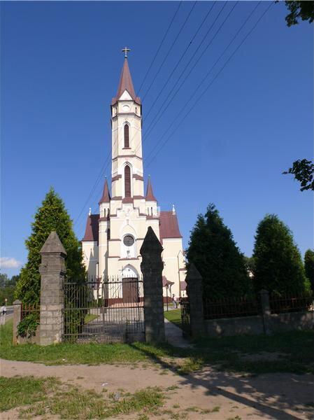 село Волица костел