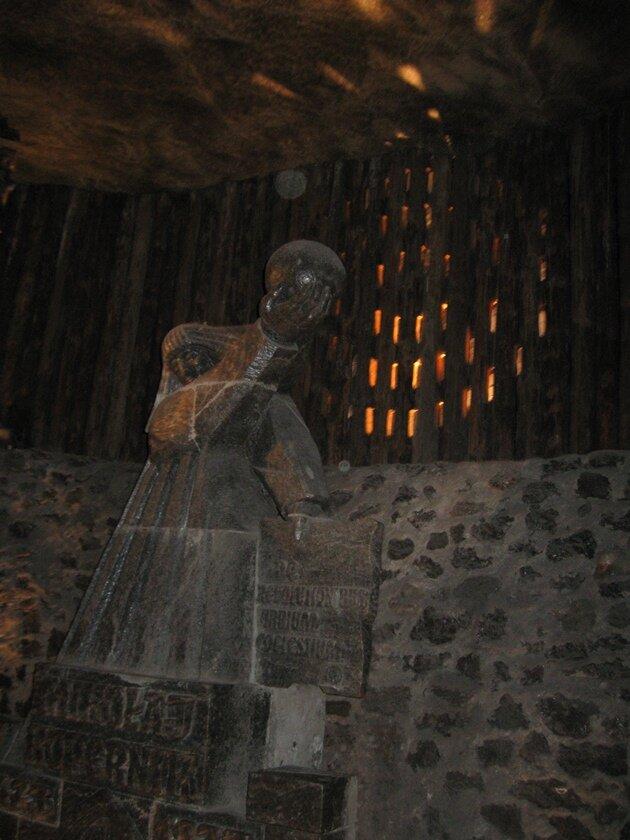 Памятник из соли Копернику